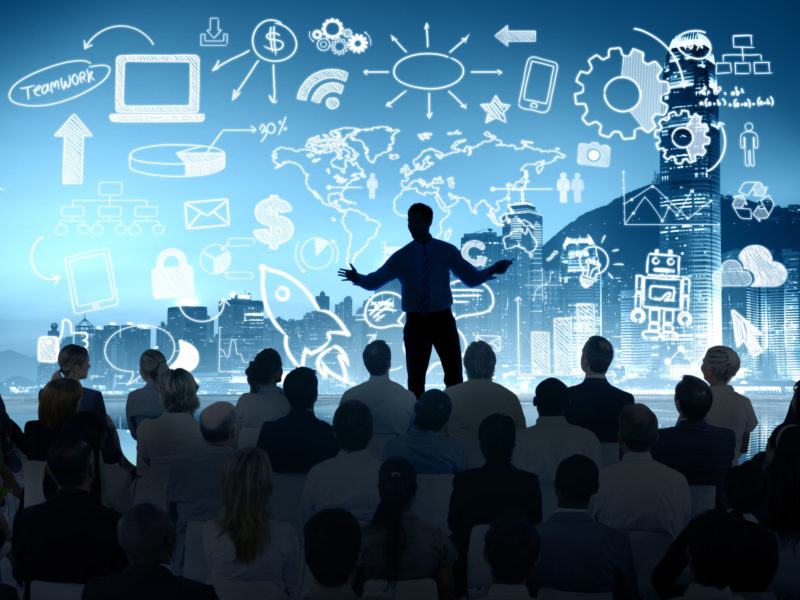 Business People Corporate Cityscape Seminar Conference Presentation Concept