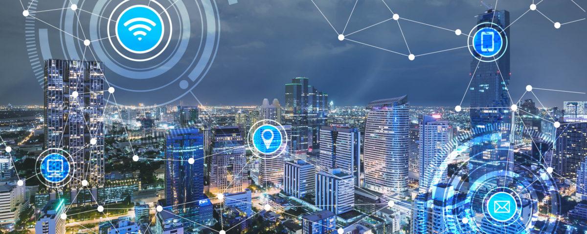 66661798 - smart city and wireless communication network, iot(internet of things), era of internet, internet of every things, internet in every day lifes